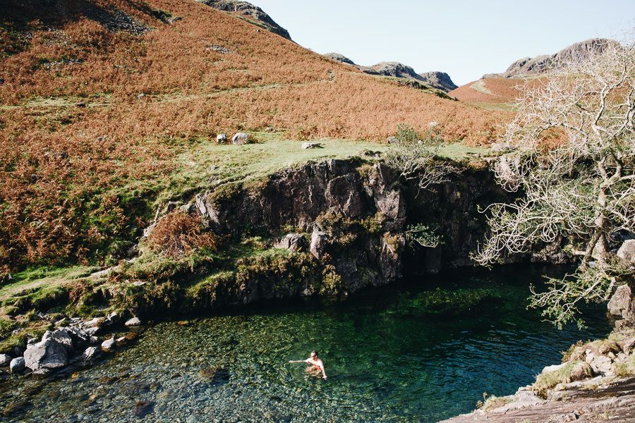 Lake District wild swimming, Pots of Eskdale