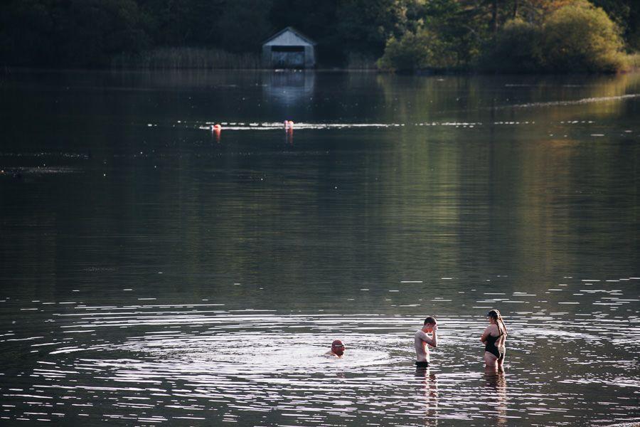 Lake District swimming, Rydal Water