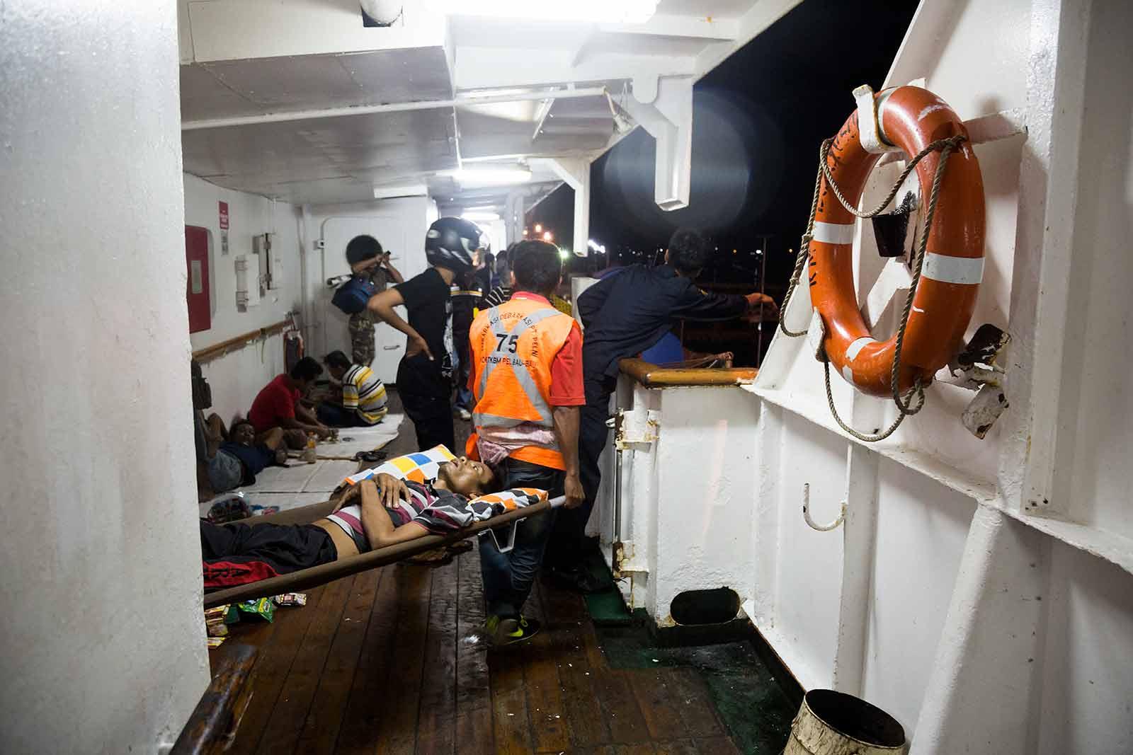 Maluku Islands: Just your average scene abord a Pelni ship in Indonesia.